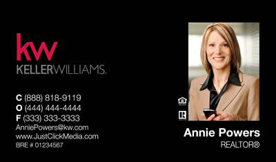 Keller Williams Business Cards– 21blkphoto With New Logo