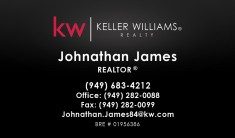 Keller Williams Business Cards – KW-13-BLACK