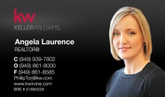 Keller Williams Business Cards – KW-BLKPHOTO-PR